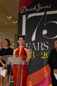 Helen O'Neill with Megan Gale, right, and Paul Zahra, left