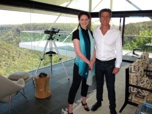 Helen O'Neill and Sandcastles' host Peter Colquhoun